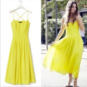 Banana Republic Chartreuse Pleased Sun Dress